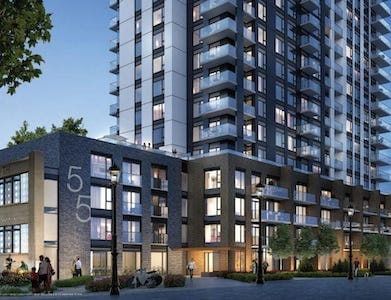 Young Condos at City Centre Building Exterior