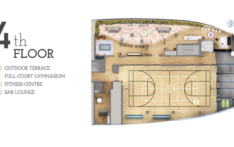 Parc Towns 4th Floor Amenities Diagram