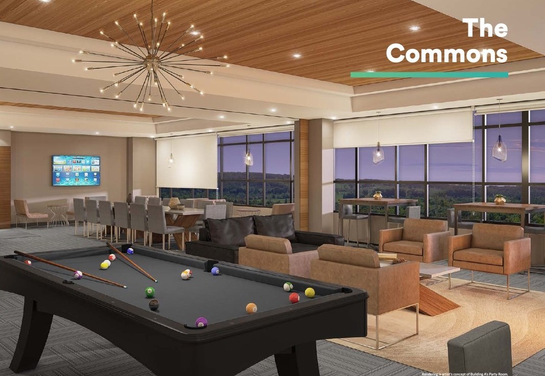Rendering of Affinity Condos Commons