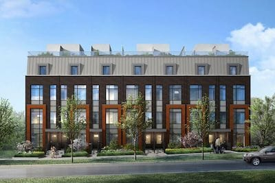 Exterior Rendering of Bartley Towns