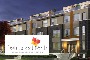Exterior Rendering of Dellwood Park Urban Townhomes