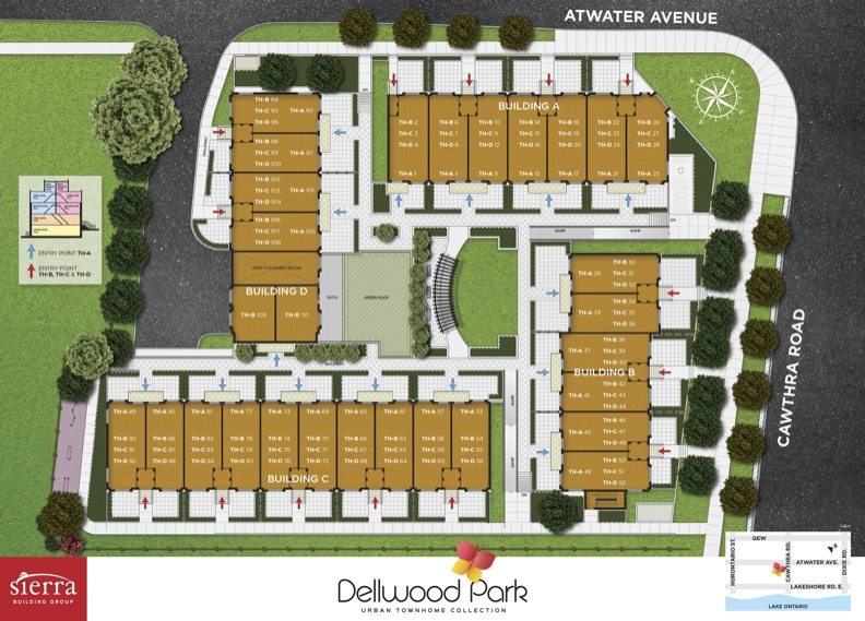 Dellwood Park Urban Townhomes Site Plan