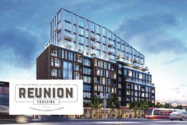 Exterior Rendering of Reunion Crossing Condos & Urban Towns