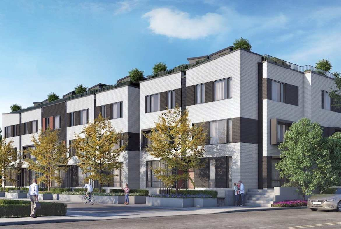 Townhomes Exterior Rendering of Reunion Crossing Condos
