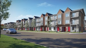 Rendering of Maxx Urban Towns streetscape