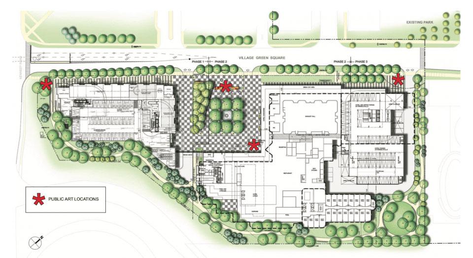 Site Plan Rendering of KSquare Condos