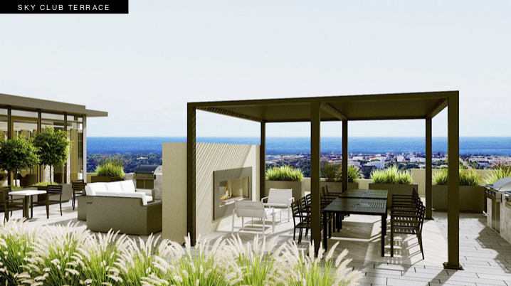 S2 at Stonebrook Sky Club Terrace Rendering