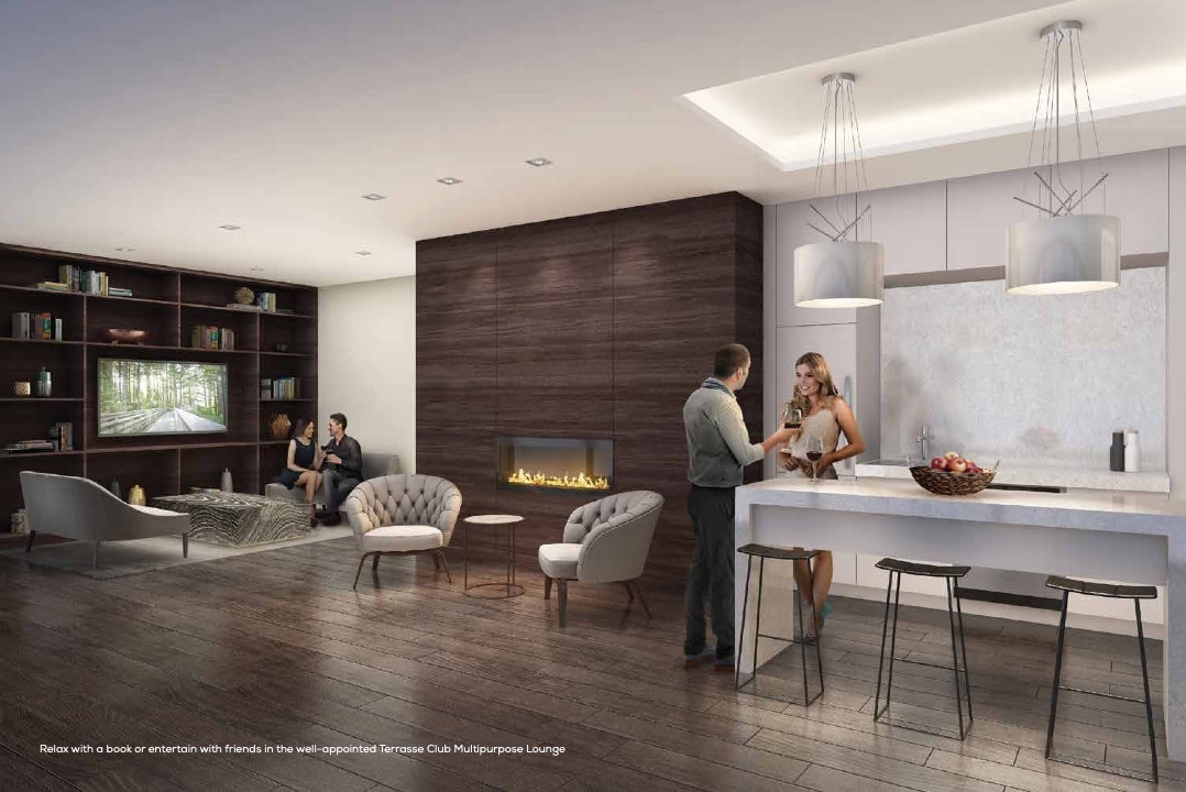 Party Room Rendering of Terrasse Condos at the Hunt Club