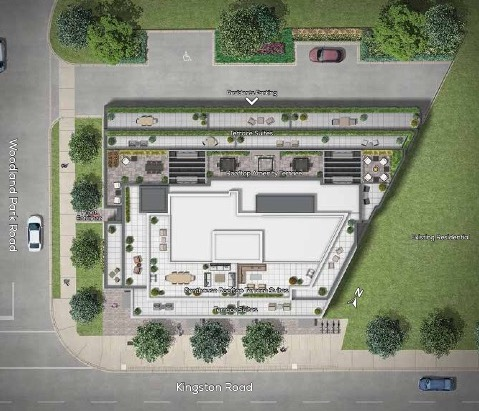 Site Plan Rendering of Terrasse Condos at the Hunt Club