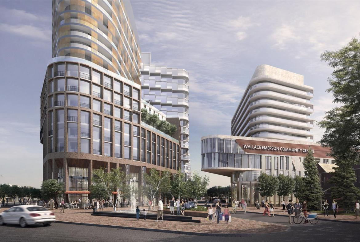 Exterior Rendering of the Galleria Mall Condos