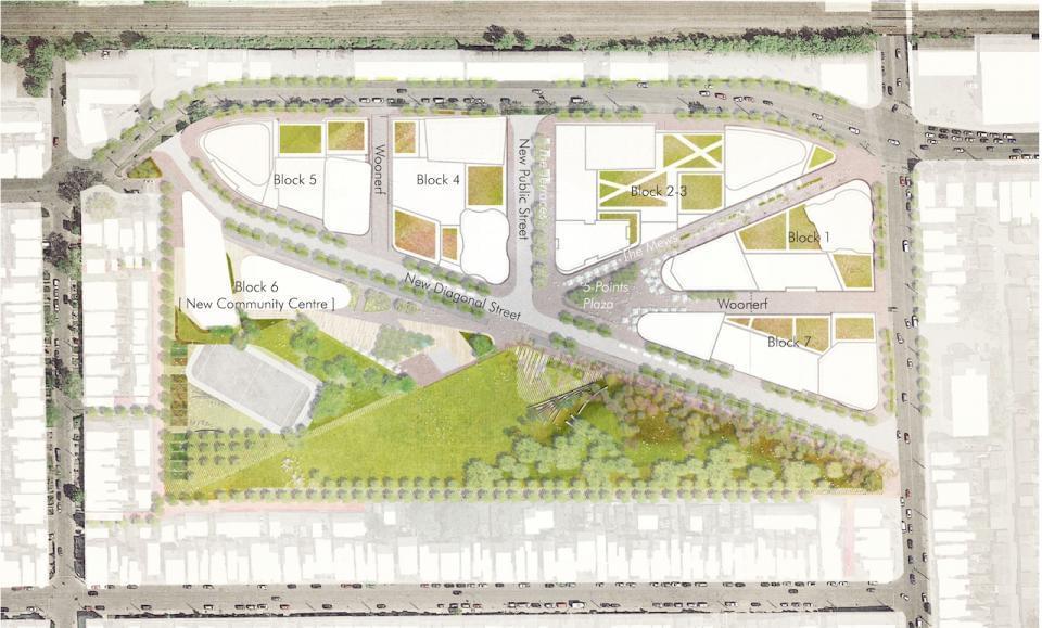Site Plan of the Galleria Mall Condos