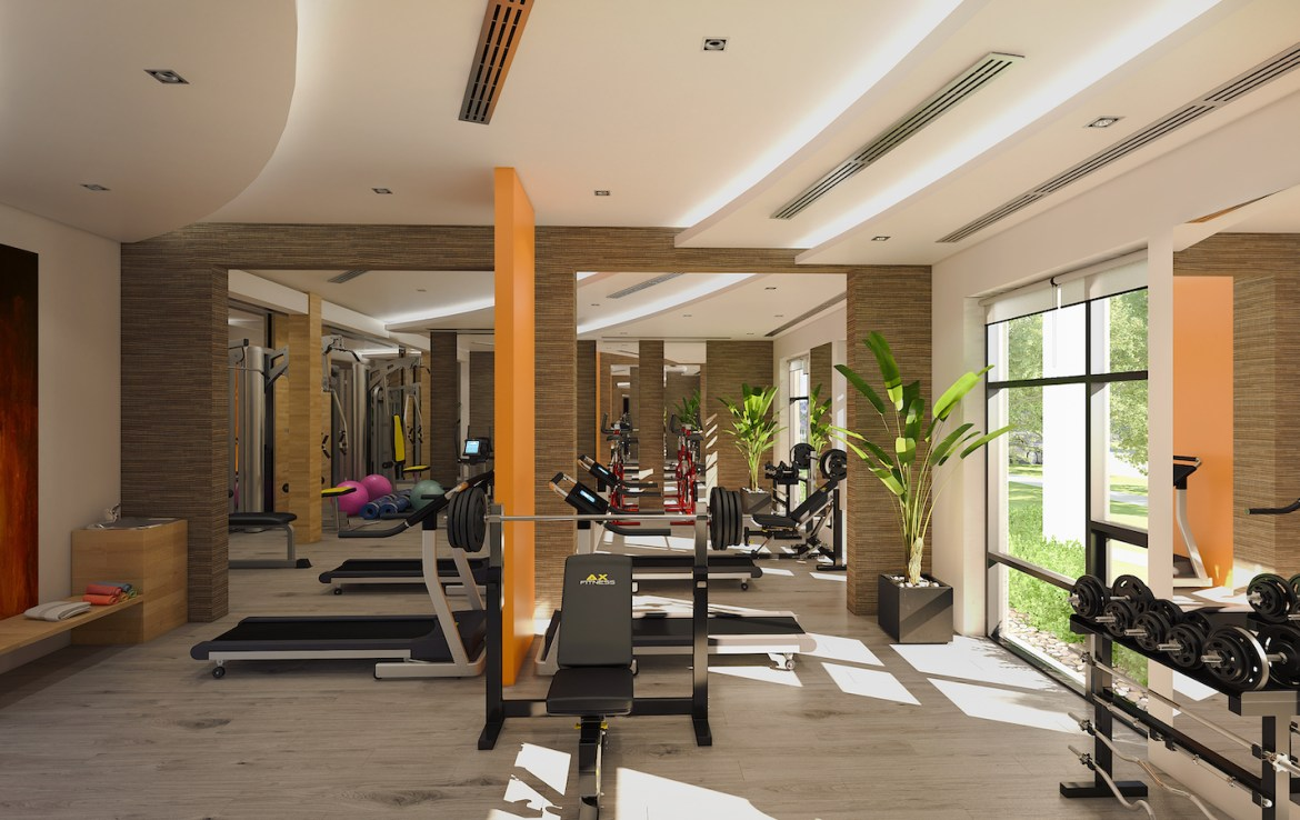 Gym Rendering of Trend Living Condos