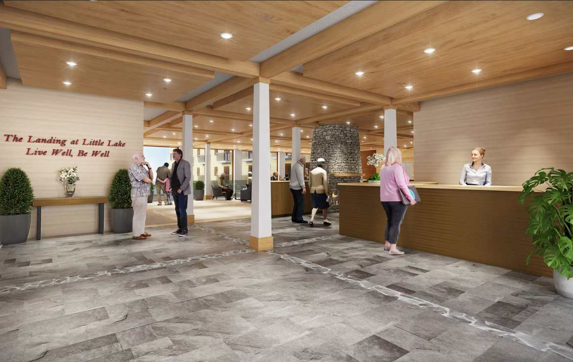 Rendering of The Landing at Little Lake Lobby