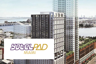 Rendering of YotelPad Miami Condos