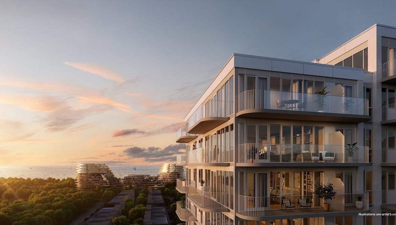Brightwater Condos exterior balcony view