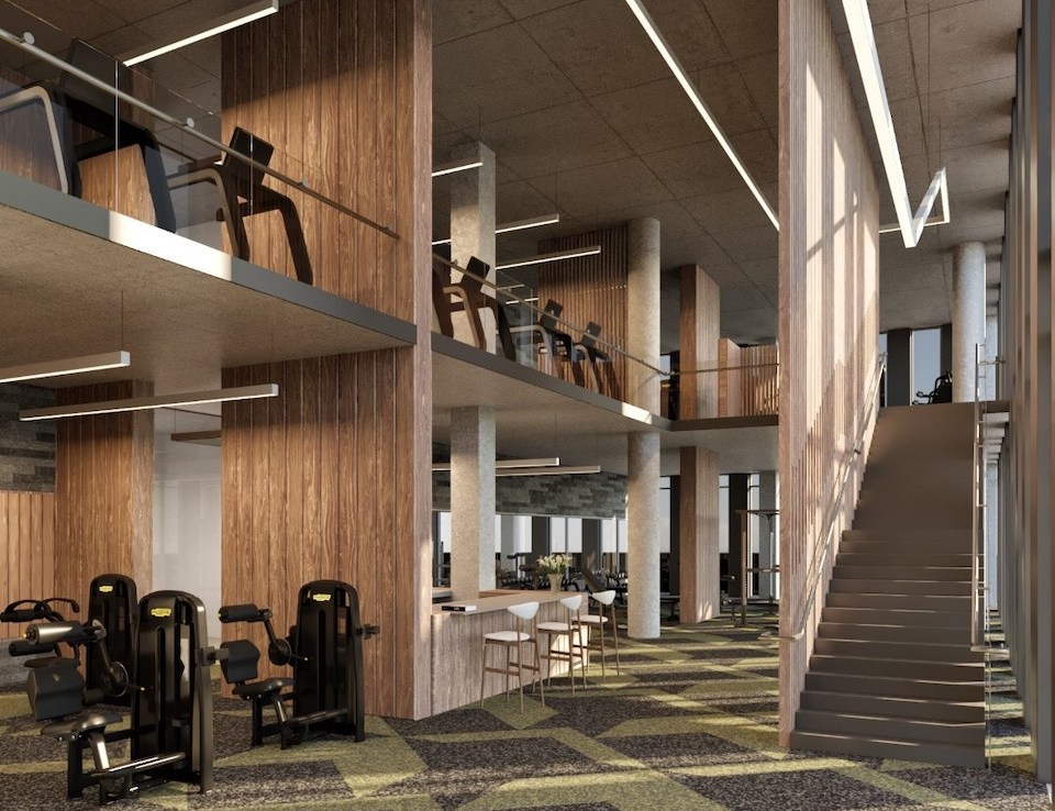 Rendering of Crosstown Condos Gym