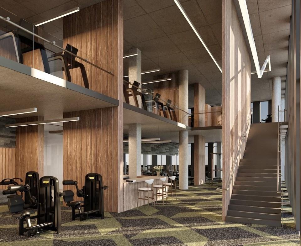 Rendering of Crosstown Condos Gym