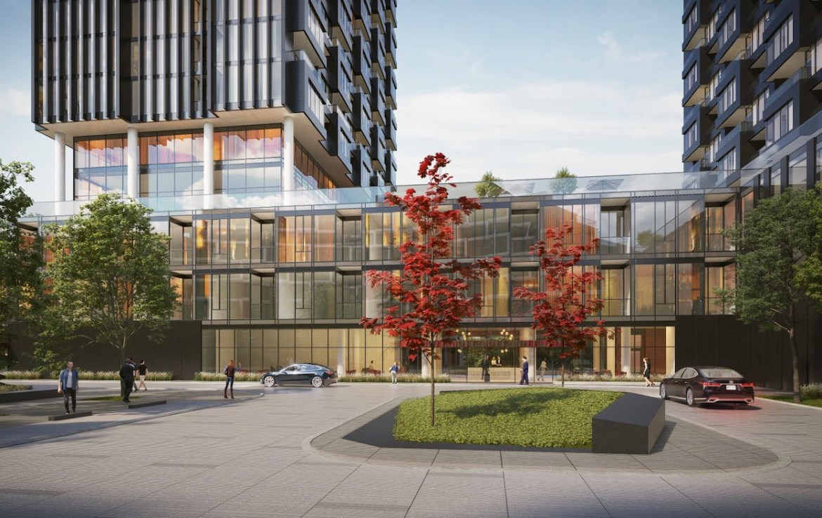 Rendering of Crosstown Condos Street-View