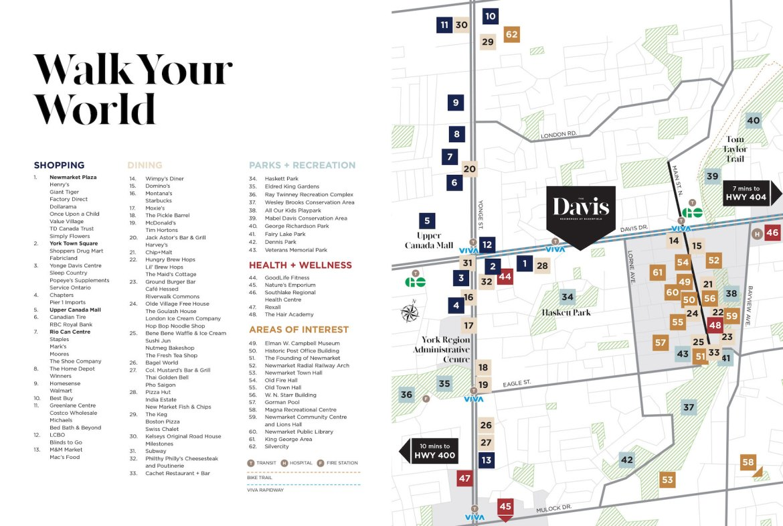Amenities Map Exterio of The Davis Residences