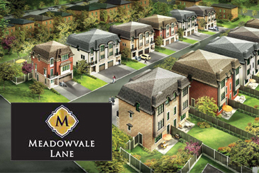 Exterior Rendering of Meadowvale Lane Homes