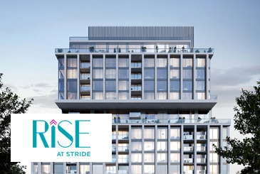 Exterior Rendering of Rise at Stride Condos