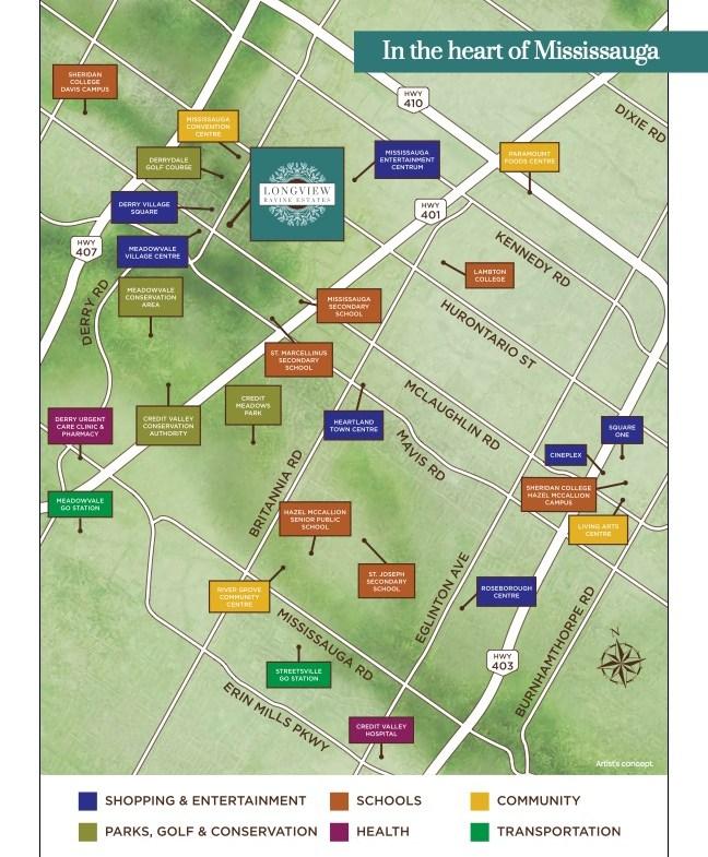 Longview Ravine Estates Local Amenity Map