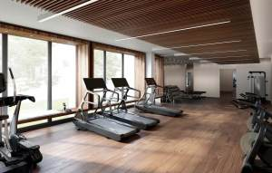 Rendering of Anx on Dupont Condos fitness centre.