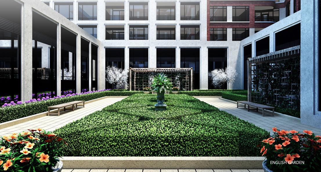 English Garden Rendering of Edenbridge Kingsway Condos