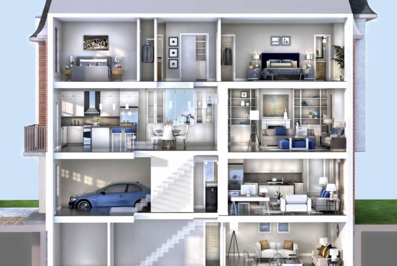 Interior Rendering of Meadowvale Lane Home Layout