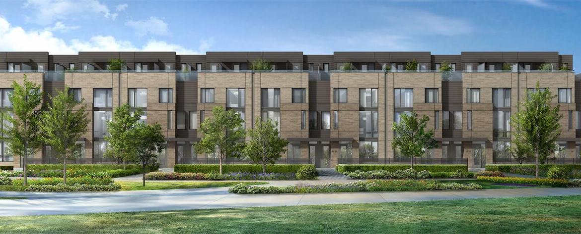 Exterior Rendering of The New Lawrence Heights Towns