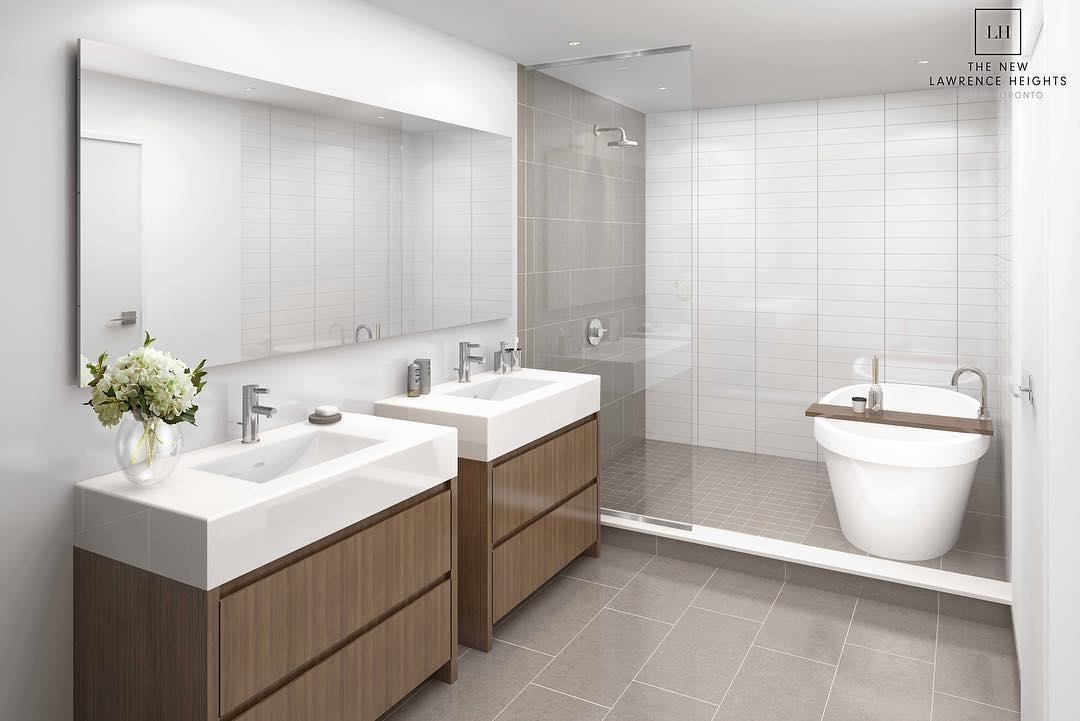 Interior Rendering of The New Lawrence Heights Towns Bathroom
