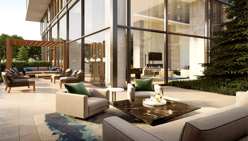 Terrace Rendering of Rise at Stride Condos