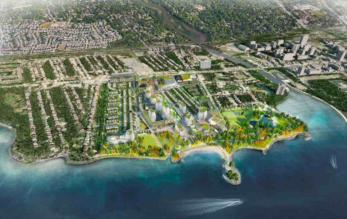 Aerial Rendering of West Village Port Credit