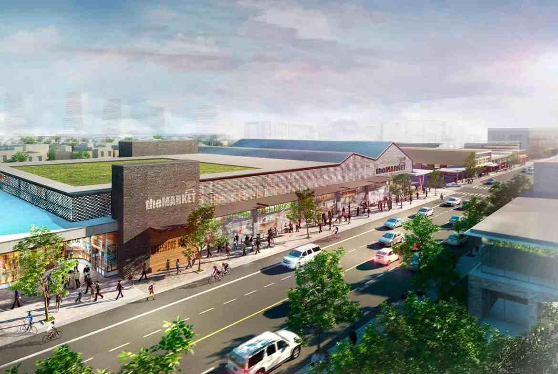 Rendering of West Village Port Credit Market