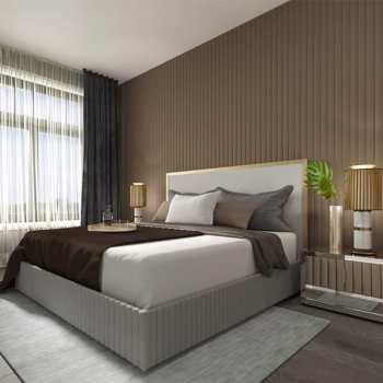 Interior suite bedroom of Monaco Condos in Collingwood
