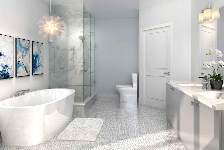 Rendering of 11 Altamont Towns suite bathroom.