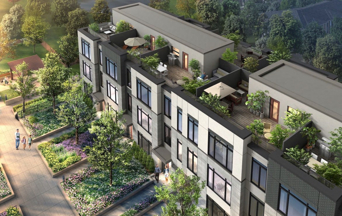 Exterior Rendering Side of Eleven Altamont Condos