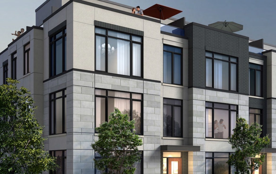 Exterior Rendering Townhouse of Eleven Altamont Condos