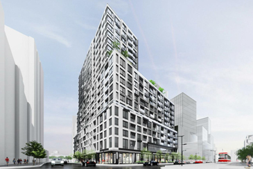 Exterior rendering of Empire Quay House Condos in Toronto