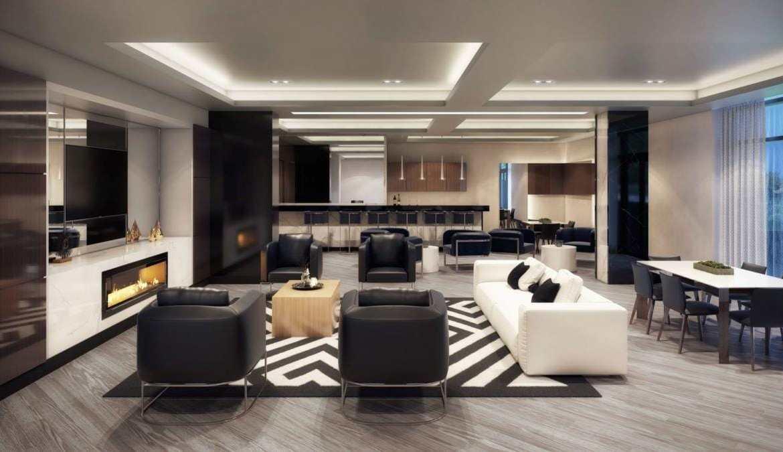 Party room rendering of GO.2 Condos.