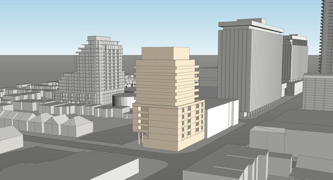 Exterior rendering of 2128 Yonge Street Condos.
