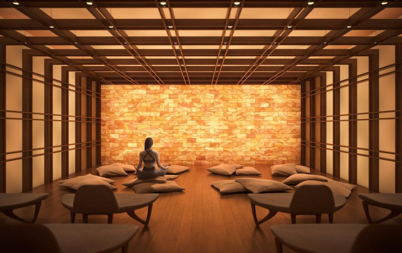 The Saint Condos salt room
