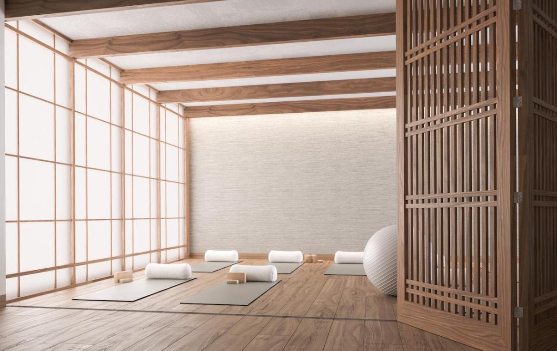 The Saint Condos yoga studio