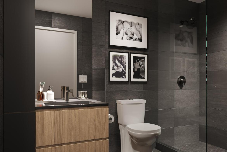 The Saint Condos interior suite bathroom