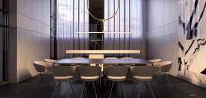 Rendering of Universal City 3 Condos business lounge.