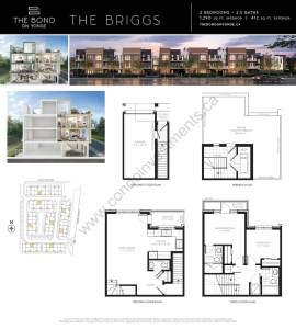 The Bond on Yonge floor plan The Briggs