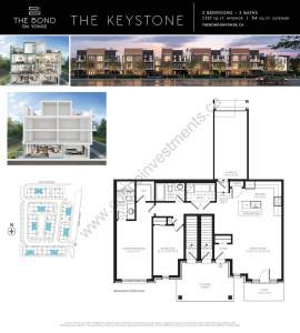The Bond on Yonge floor plan The Keystone