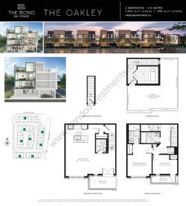 The Bond on Yonge floor plan The Oakley