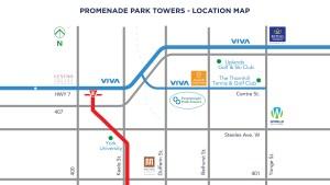 Promenade Park Towers location map.