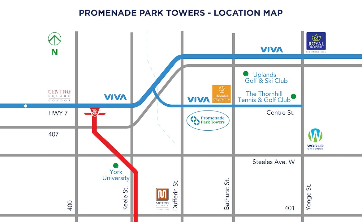 Promenade Park Towers location map.